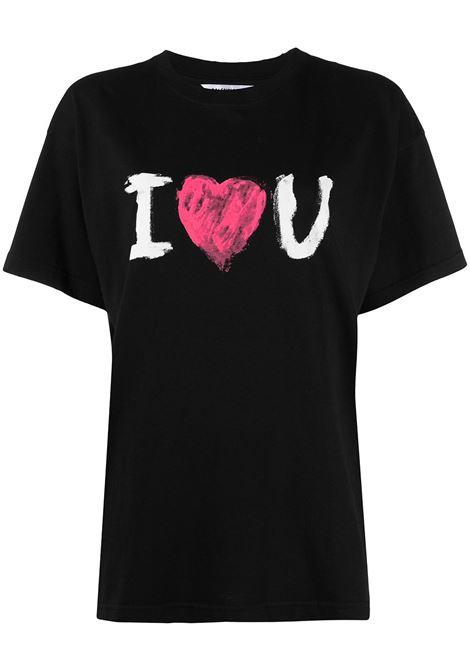 T-shirt oversize in cotone nero BALENCIAGA | T-shirt | 612965-TJVL51070
