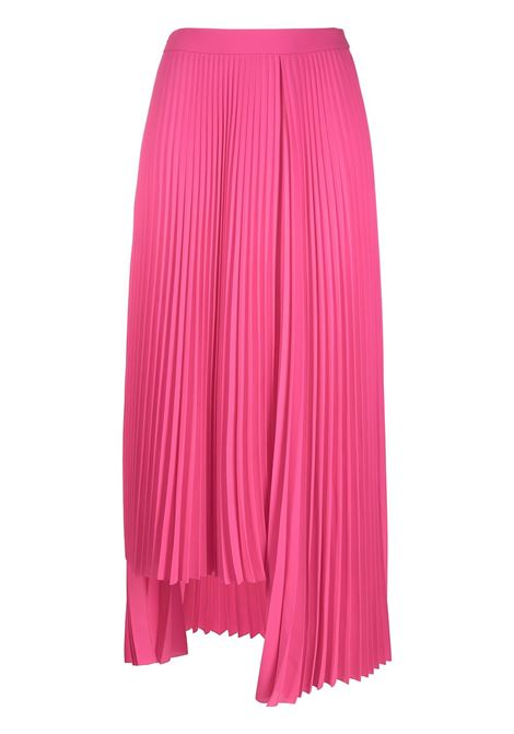 Fluorescent high waist pink asymmetric pleated skirt  BALENCIAGA |  | 625492-TGO085900