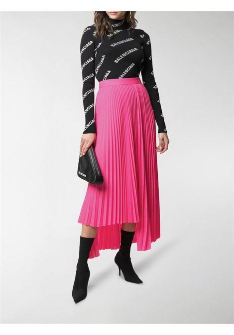 Fluorescent high waist pink asymmetric pleated skirt  BALENCIAGA |  | 625492-TGO085900