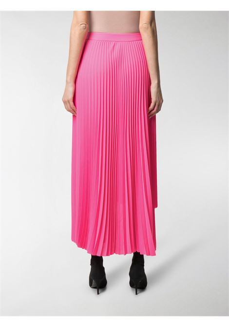 Gonna plissè asimmetrica rosa fluo a vita alta BALENCIAGA | Gonne | 625492-TGO085900
