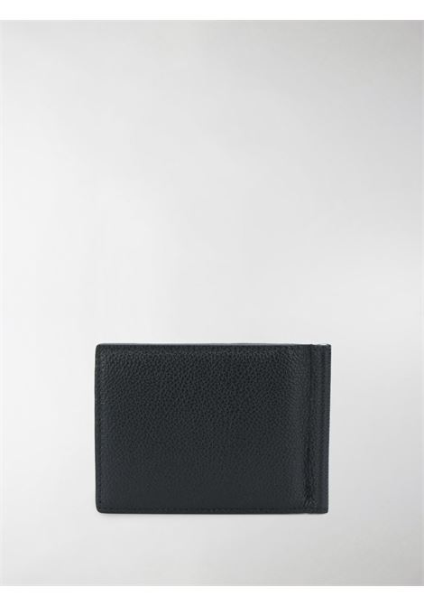 Black calf leather wallet featuring white Balenciaga logo print  BALENCIAGA |  | 625819-1IZI31090