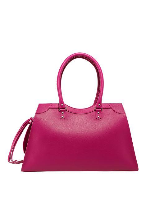 Maxi City shoulder bag in fuchsia hammered calf leather  BALENCIAGA |  | 635831-15Y4Y5616