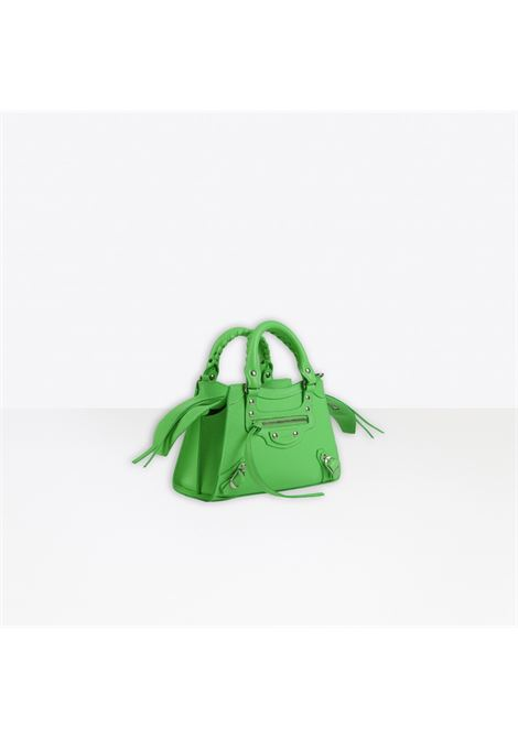 green calf grained calfskin Neo Classic Mini top handle mini bag with aged-silver hardware BALENCIAGA |  | 638524-15Y4Y3807