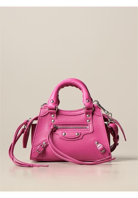 pink calf grained calfskin Neo Classic Mini top handle mini bag with aged-silver hardware BALENCIAGA |  | 638527-15Y4Y5616