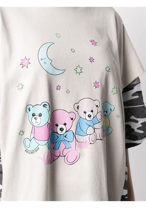 multicolored cotton double layer T-shirt BALENCIAGA |  | 641584-TJVI19013