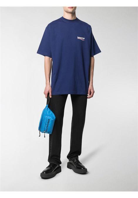 Pacific blue cotton oversized T-shirt  BALENCIAGA |  | 641675-TIV521195