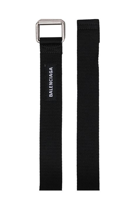 Black fabric belt featuring white Balenciaga logo  BALENCIAGA |  | 644071-9FX1Y1000