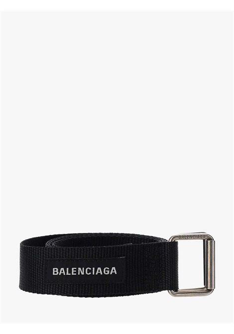 Cintura in tessuto nera con logo Balenciaga bianco BALENCIAGA | Cinture | 644071-9FX1Y1000