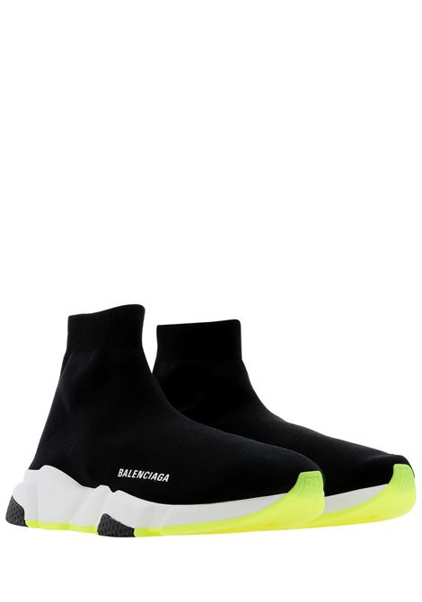 Black Speed socks-sneakers with white Balenciaga logo BALENCIAGA | Sneakers | 645056-W2DB91016
