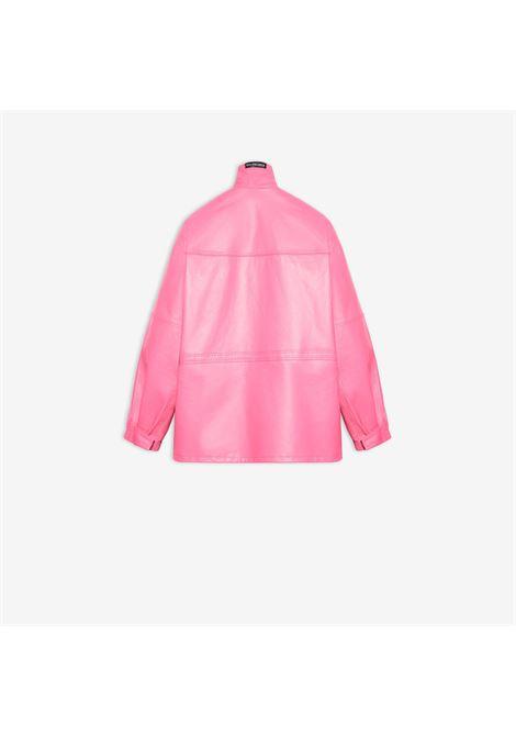 Parka leggero in pelle di vitello opaca rosa chiaro BALENCIAGA | Cappotti | 646466-TKS165501