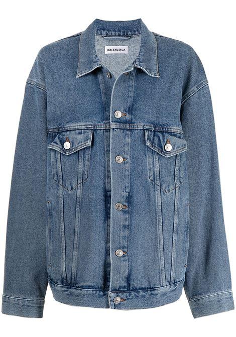 Blue cotton denim jacket featuring Balenciaga logo at the back BALENCIAGA |  | 646896-TDW154762