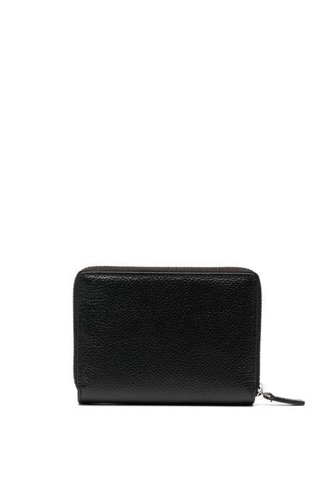 Portafoglio in pelle di vitello nera con logo Balenciaga BALENCIAGA | Portafogli | 650879-1IZI31090