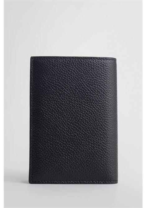 Portafogli verticale in pelle nera con logo Balenciaga bianco BALENCIAGA | Portafogli | 655683-1IZI31090