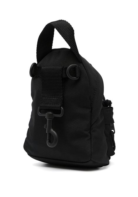 Black mini backpack featuring white Balenciaga logo patch BALENCIAGA |  | 656060-2JMRX1000