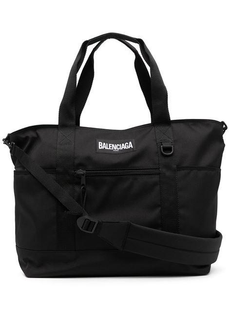 borsone in nylon nero con logo Balenciaga BALENCIAGA | Borse a tracolla | 656122-2JMTX1000