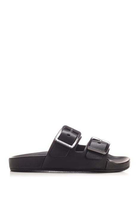 black calfskin sandal with double band and double silver buckle BALENCIAGA |  | 656821-WA2M61010