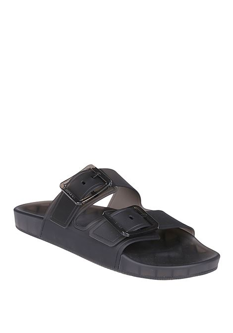 Sandali neri in gomma con cinturino in metallo Mallorca BALENCIAGA | Sandali | 656940-W2DZ11000