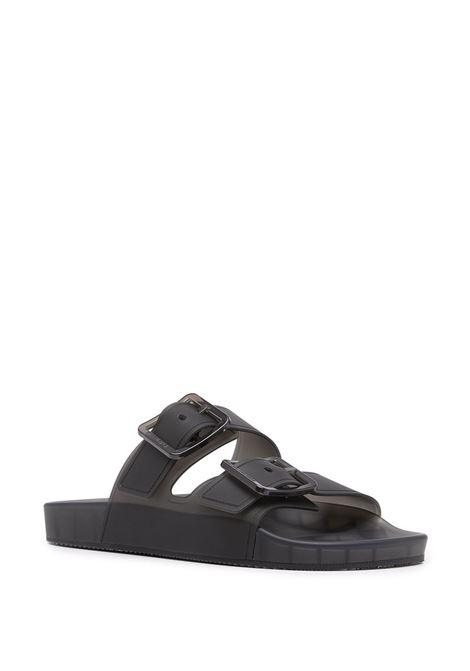 Black Mallorca rubber strappy sandals  BALENCIAGA |  | 656940-W2DZ11000