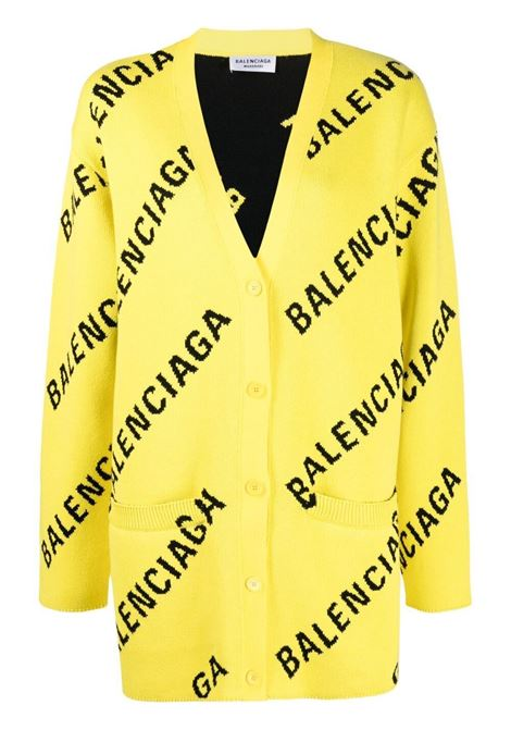 bright yellow cardigan with black oblique Balenciaga logo BALENCIAGA |  | 659675-T32007440