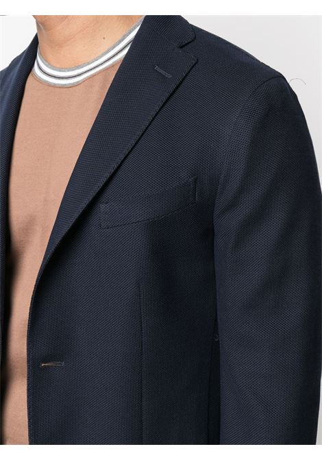 Navy blue cotton single-breasted blazer  BOGLIOLI |  | N1302E-BRC020780