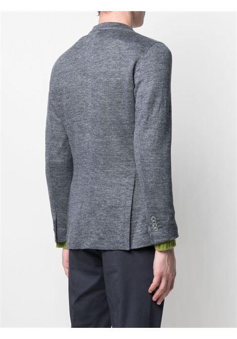 Blazer grigio in lino con bottoni effetto mélange BOGLIOLI | Giacche | N1302E-BTC0010750