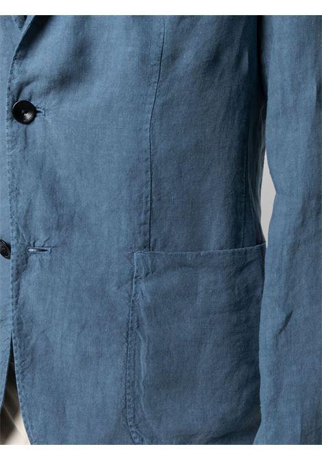 Blazer monopetto aderente in lino blu BOGLIOLI | Giacche | N1302Q-BLC4260670