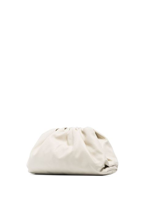 Ivory lamb leather and nappa The Pouch clutch bag BOTTEGA VENETA |  | 576227-VCP409646