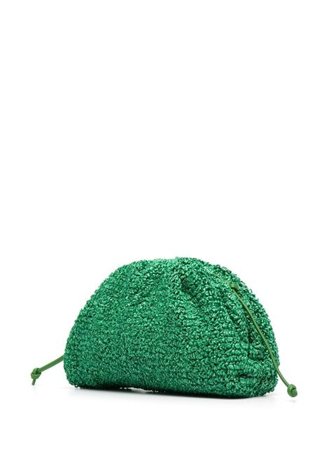 Dark Green raffia The Pouch clutch bag  BOTTEGA VENETA |  | 585852-V0SR13711