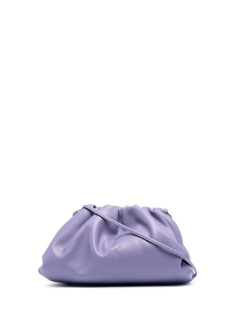 purple The Pouch 20 calf leather clutch bag with a thin shoulder strap BOTTEGA VENETA |  | 585852-VCP405130
