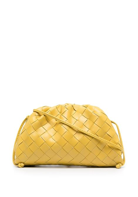 yellow lamb skin The Pouch Mini bag feauting folds of Intrecciato nappa BOTTEGA VENETA |  | 585852-VCPP17130