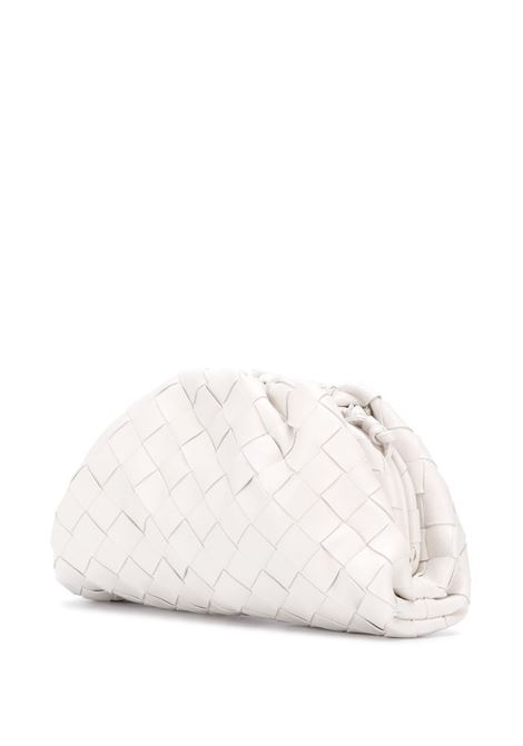 white lamb skin The Pouch Mini bag feauting folds of Intrecciato nappa BOTTEGA VENETA |  | 585852-VCPP19143