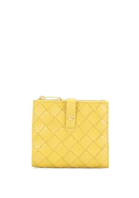 Portafoglio in pelle di vitello giallo in design Intrecciato BOTTEGA VENETA | Portafogli | 600270-VA9617144