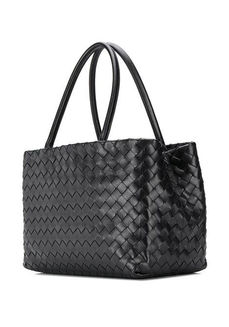 black leather woven Intrecciato style tote bag  BOTTEGA VENETA      600504-VCPP18803