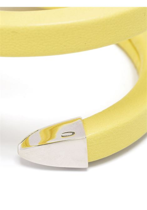 Yellow leather and silver-tone sterling silver bracelet  BOTTEGA VENETA |  | 608701-V507C7400
