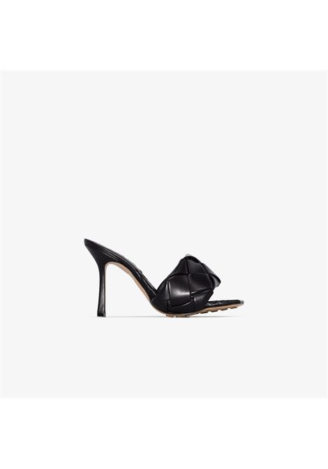 Black lamb nappa leather BV Lido 120mm Intrecciato sandals  BOTTEGA VENETA |  | 608854-VBSS01000
