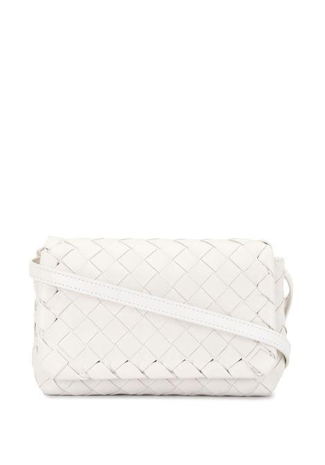 White leather Intrecciato Mini crossbody bag  BOTTEGA VENETA      609412-VCPP59005