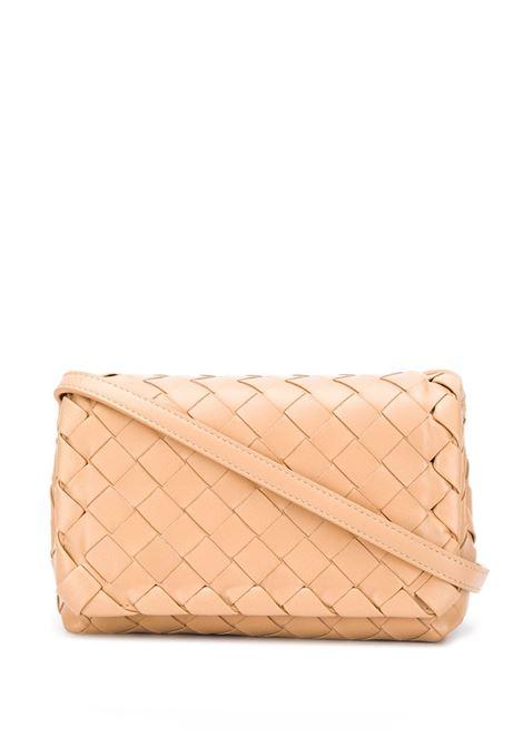 supple nude leather Mini crossbody bag  BOTTEGA VENETA      609412-VCPP59908