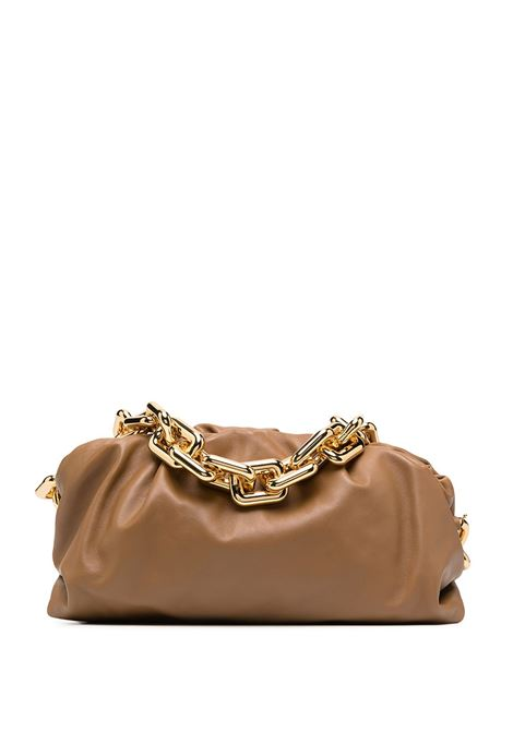 Brown calf leather The Chain Pouch shoulder bag  featuring gold chain-link shoulder strap BOTTEGA VENETA |  | 620230-VCP402618