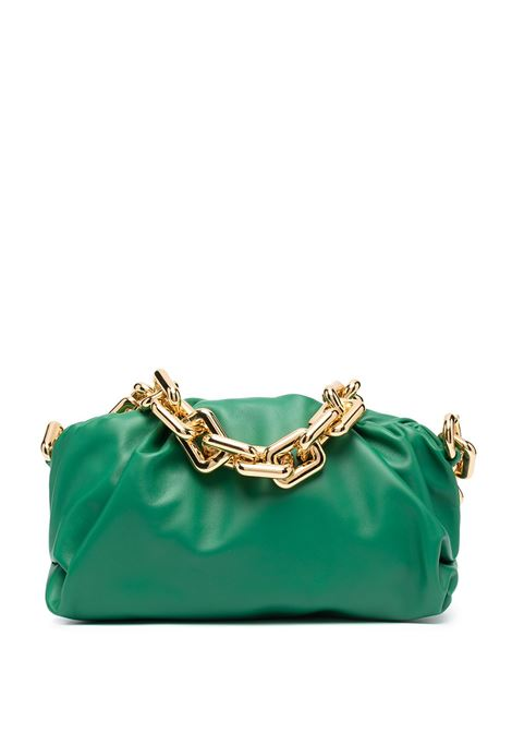 Borsa a tracolla The Chain Pouch in pelle di vitello verde con finiture color oro BOTTEGA VENETA | Borse a tracolla | 620230-VCP403104