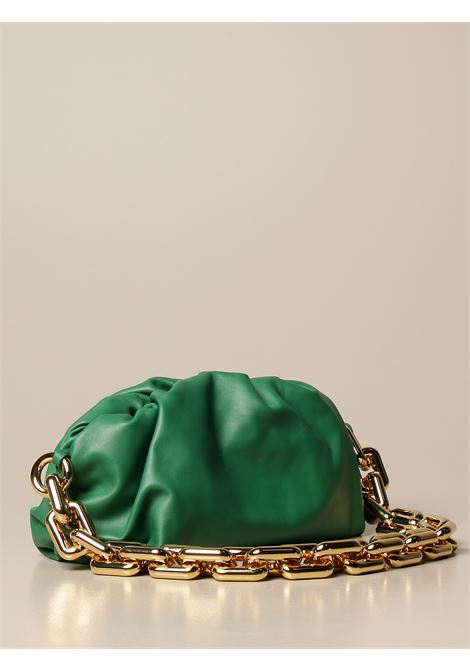 Green calf leather The Chain Pouch shoulder bag  featuring gold-tone hardware BOTTEGA VENETA |  | 620230-VCP403104