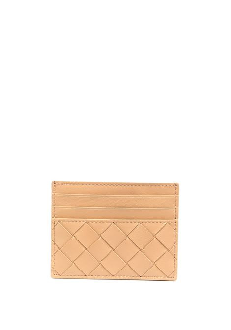 Beige lamb leather cardholder featuring signature Intrecciato design BOTTEGA VENETA |  | 635042-VCPP32700