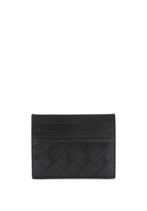 Black lamb skin leather ardholder featuring Intrecciato design  BOTTEGA VENETA |  | 635042-VCPP38803