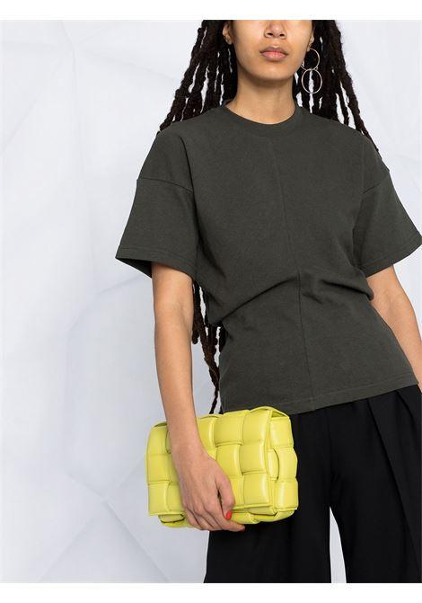Dark green cotton T-shirt featuring panelled design BOTTEGA VENETA |  | 642833-V0I502275