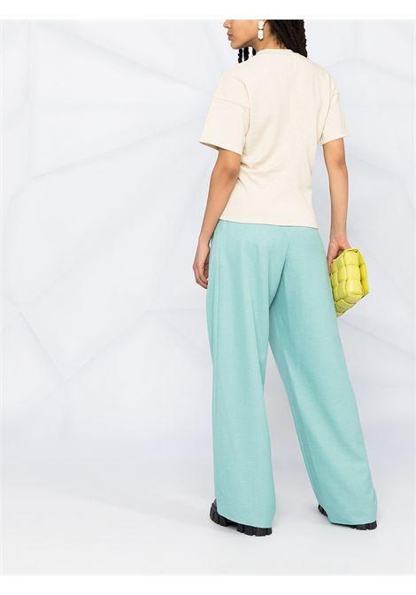 T-shirt in cotone beige con design a pannelli BOTTEGA VENETA | T-shirt | 642833-V0I509206