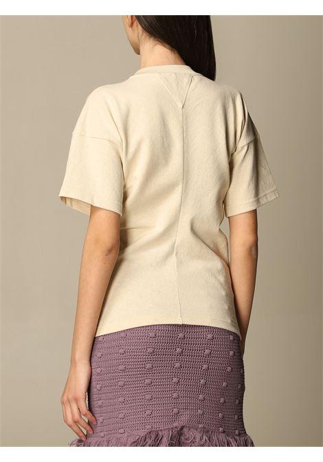 T-shirt in cotone beige con design a pannelli BOTTEGA VENETA | T-shirt | 648233-V0I509206