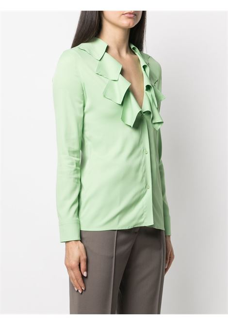 viscose light green blouse featuring cut-out detailing BOTTEGA VENETA |  | 646584-V01N03516