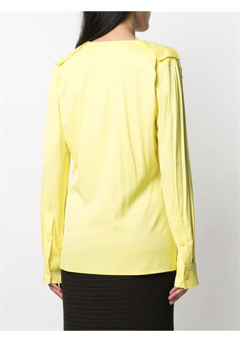 bright yellow viscose shirt featuring ribbon collar  BOTTEGA VENETA |  | 646584-V01N07219
