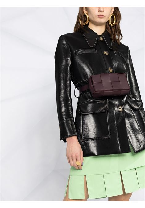 Minigonna color pistacchio con bordo cut-out BOTTEGA VENETA | Gonne | 646585-V01N03516
