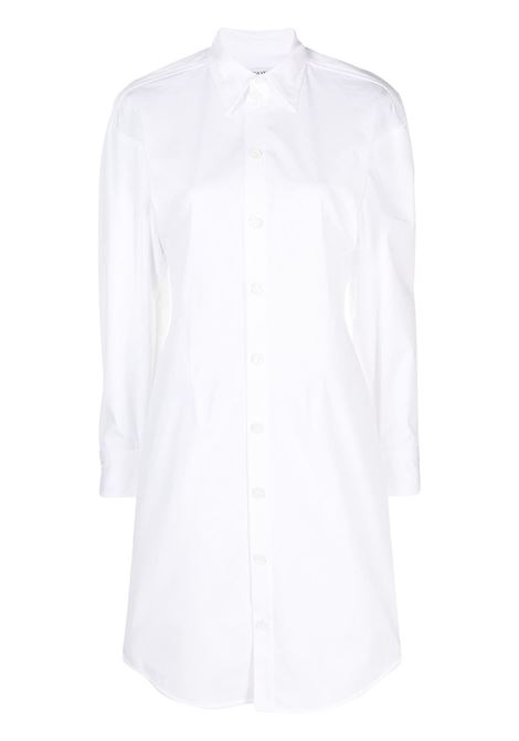 white cotton button-up shirt dress featuring classic collar BOTTEGA VENETA |  | 647409-VKIX09000