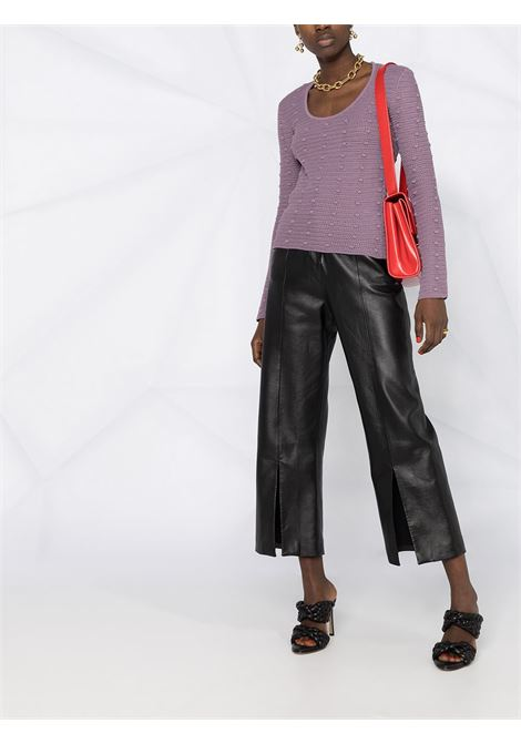 Lilac purple cotton jumper featuring pompom detail all ove BOTTEGA VENETA |  | 647743-V0DW05115